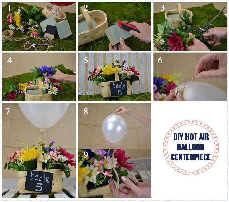 Diy Hot Air Balloon Centerpiece Love Inc Maglove Inc Mag