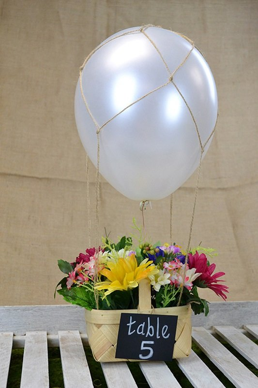 Diy hot air balloon centerpiece love inc maglove mag