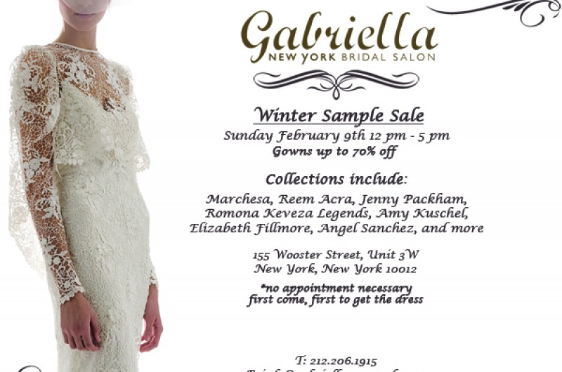 Major Wedding Dress Sample Sale in New York City this Weekend ...