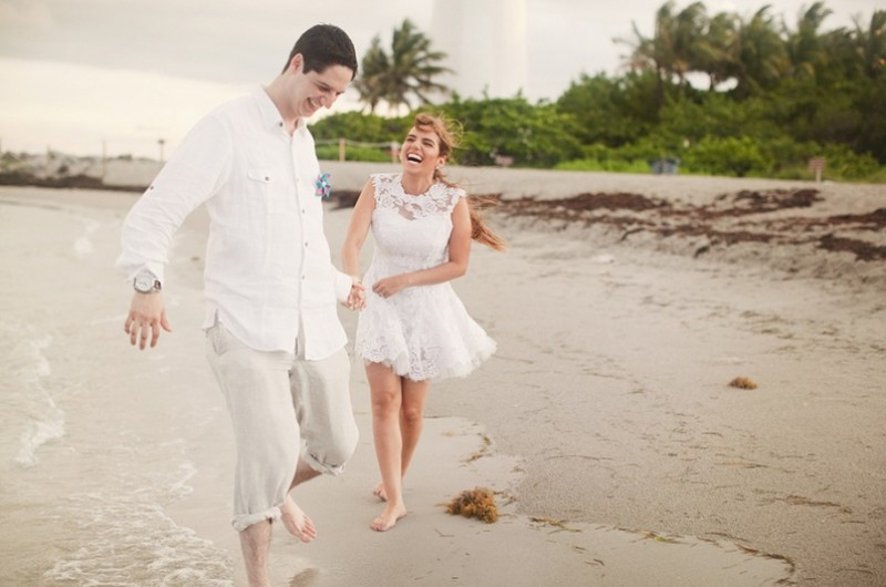Image for Paola and Alejandro's Relaxed Lighthouse Beach Elopement