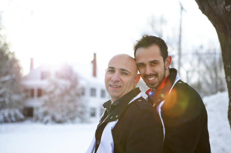 Image for Tony and Leo's Snowy Valentine's Day Elopement
