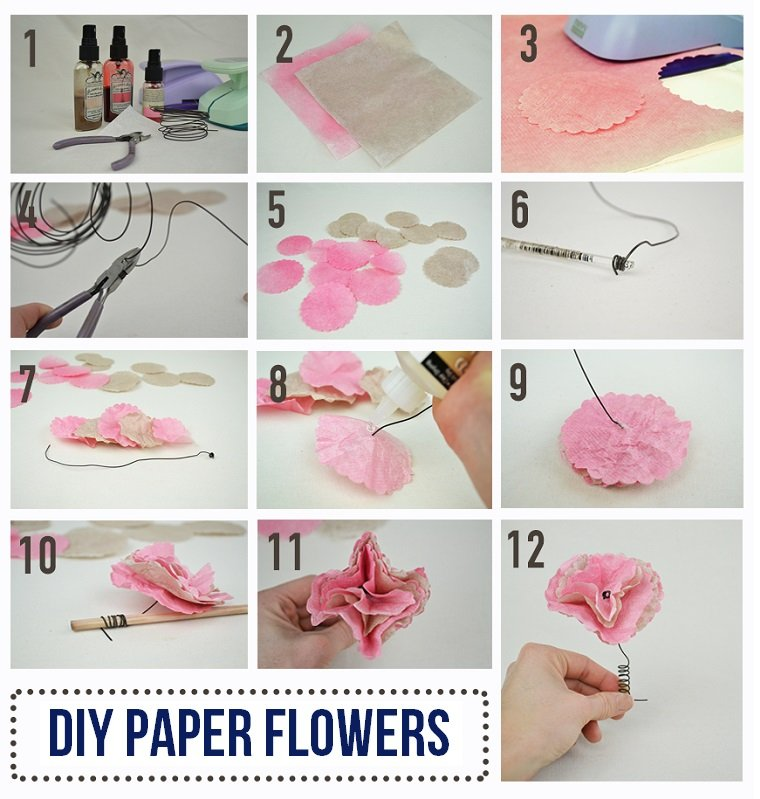 Easy diy paper flower tutorial love inc maglove inc mag for Diy paper roses step by step