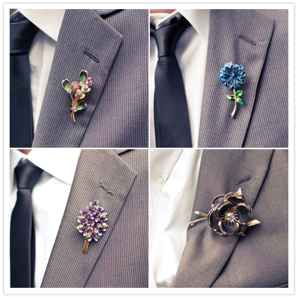 brooch-boutonnieres