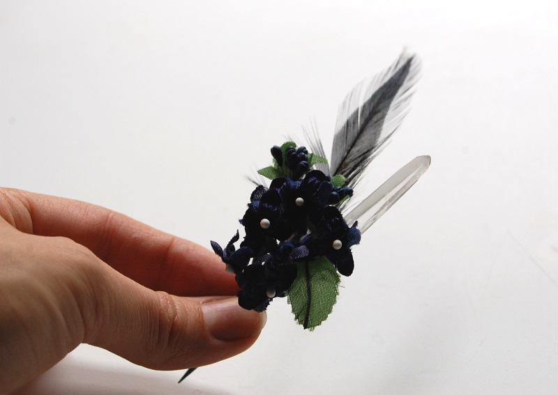 crystal boutonnieres