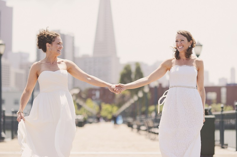 Image for Brooke and Emmy's Sweet San Francisco City Hall Wedding