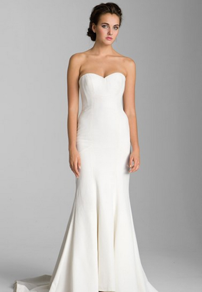 5 chic wedding dresses under 1 500 love inc maglove for Nicole miller wedding dresses nordstrom
