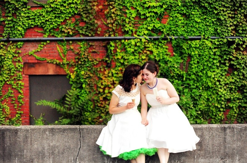 Image for Kaitlin and Taryn's Music-Themed Wedding