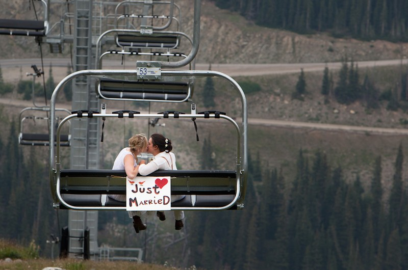 Image for Danielle and Angie's Rustic Ski Resort Wedding