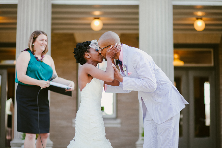 Best Wedding Day Kisses | Community Playground Wedding | Photography by Adachi Photography