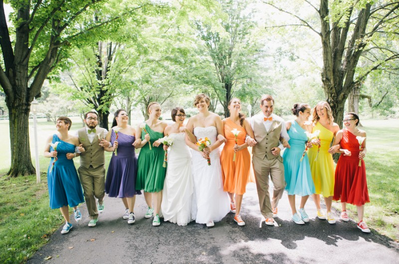 2c856333b89 Jessica and Courtney s Rainbow-Themed Hudson Valley Wedding - Love ...