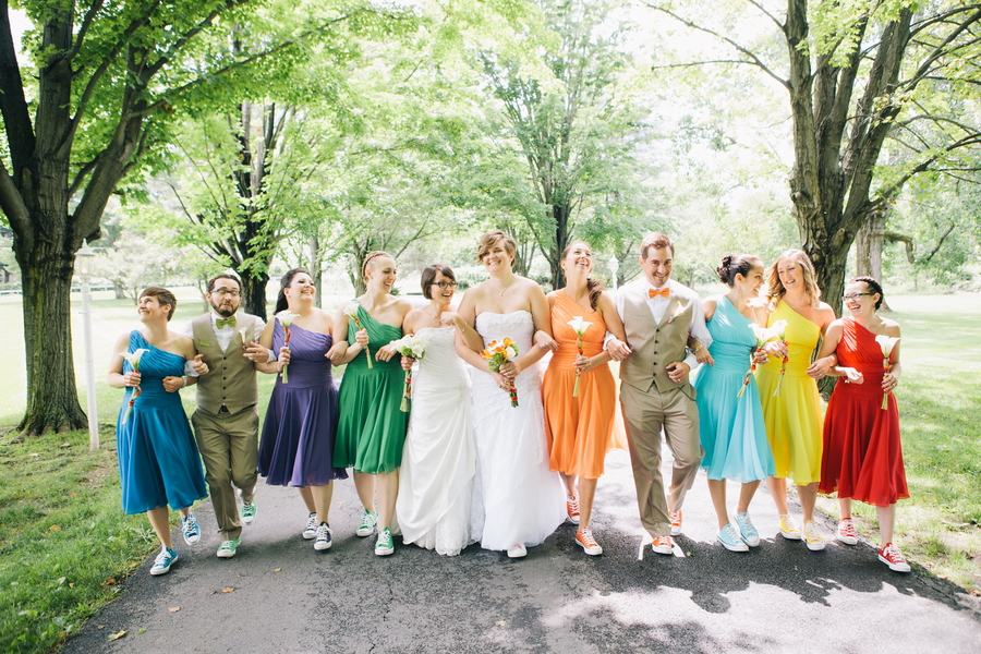 Jessica and Courtneys Rainbow Themed Hudson Valley Wedding Love