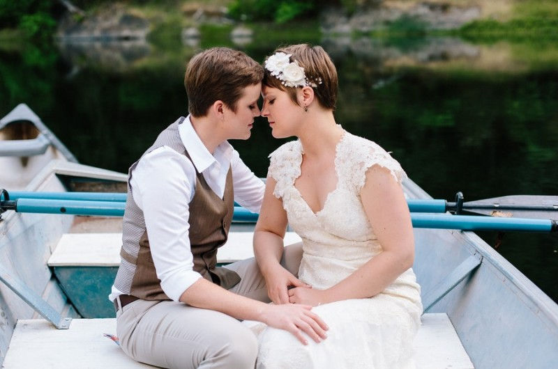 Image for Katie and Nina's Roaring Twenties Lakeside Wedding