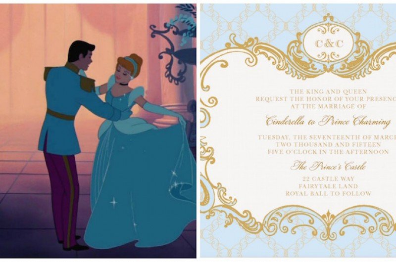 Image For Cinderella Inspired Wedding Invites (Plus 6 More Disney Princess  Options!)