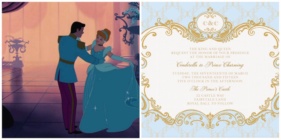 Cinderella-Inspired Wedding Invites (Plus 6 More Disney ...