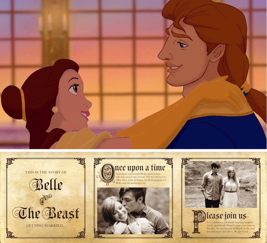 Disney Wedding Invitation: Cinderella-Inspired Wedding Invites (Plus 6 More Disney