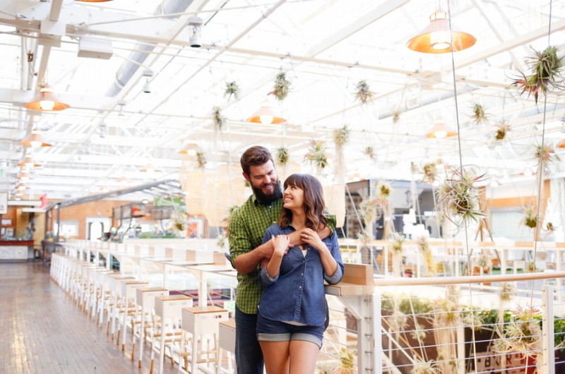 Image for Candice and Scott's Hip Anaheim Packing House Engagement Shoot