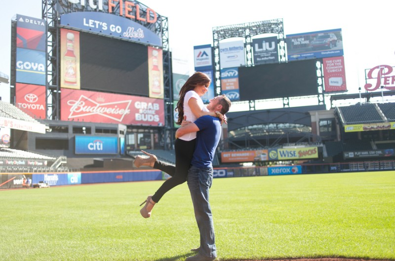 Image for Mets Fans Dave and MaryBeth's Citi Field Engagement Shoot