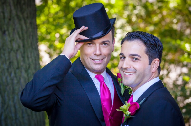 Image for Jason and Michael's Colorful, Intimate Massachusetts Wedding