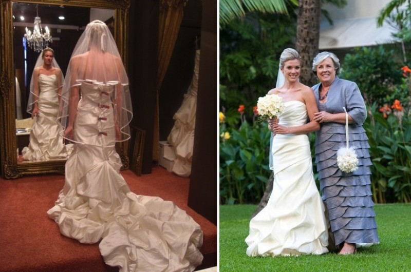 Image for Wedding Dress Shopping Reality: 5 Before and After Photos from Salon to Aisle