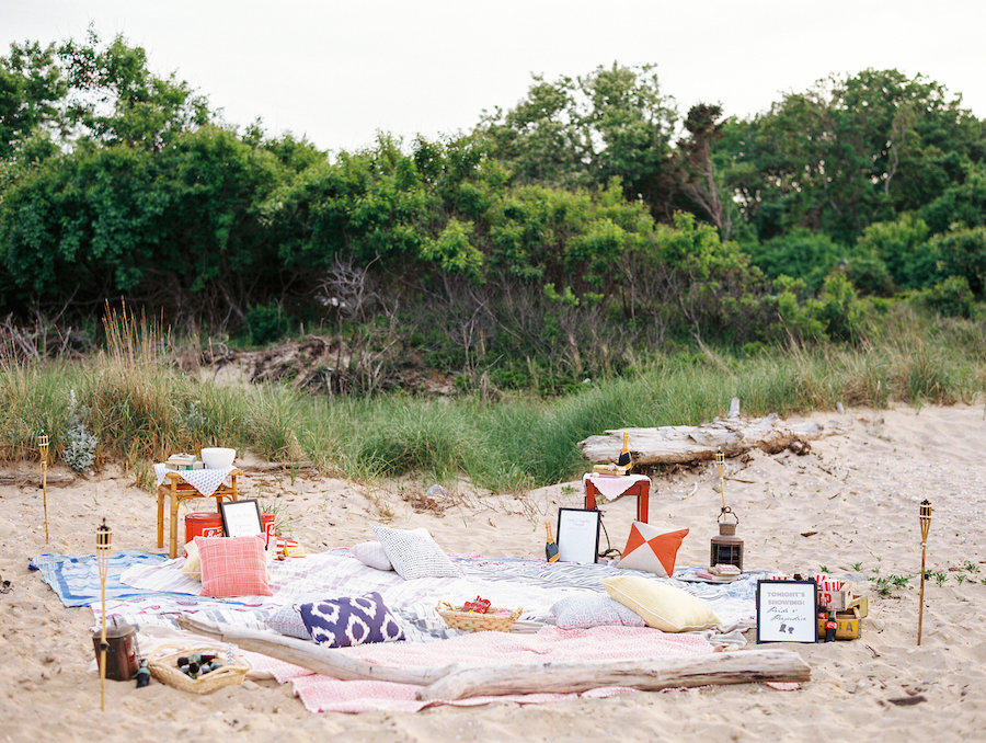 Movie on the Beach Bachelorette Party Inspiration | Photography by Christina Zen Photography