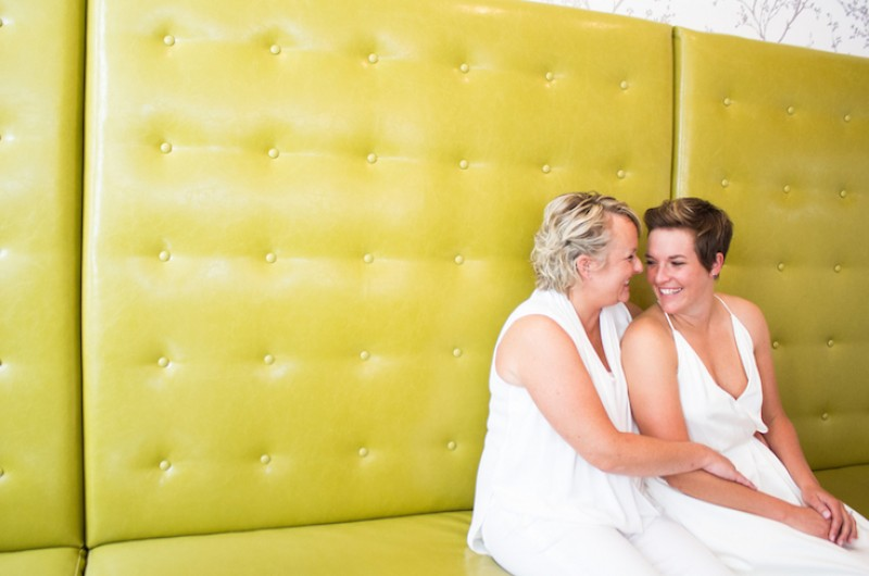 Image for Sara and Stephanie's Urban Kentucky Distillery Wedding