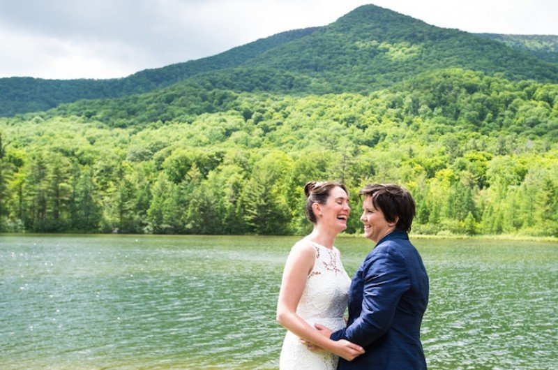 Image for Katie and Julia's Green Mountains Vermont Wedding