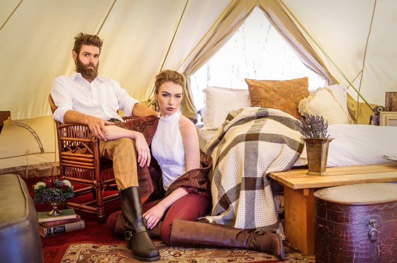 Image for An Intimate Glamping Wedding Inspiration Shoot