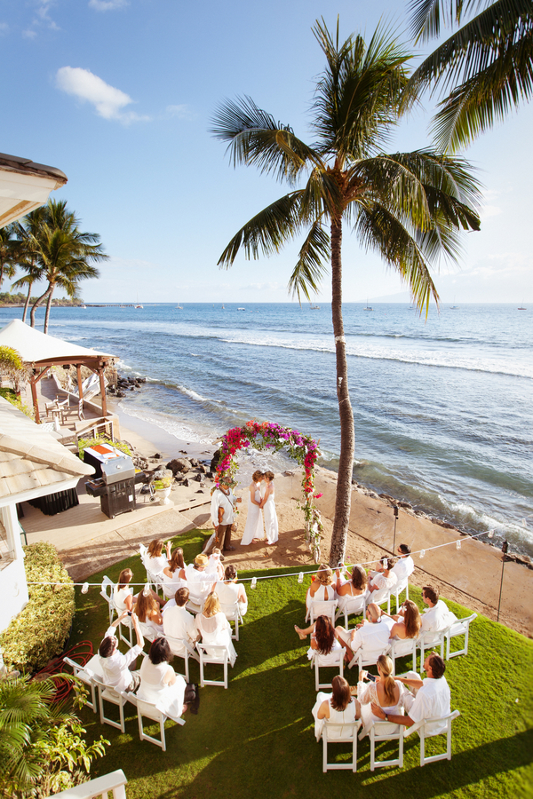 Valerie and jessis oceanfront destination wedding in maui love team of talents junglespirit Choice Image