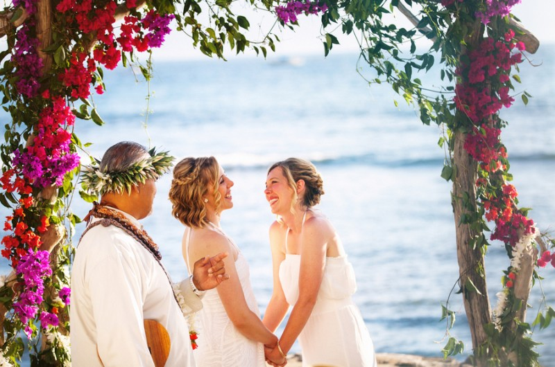 Image for Valerie and Jessi's Oceanfront Destination Wedding in Maui