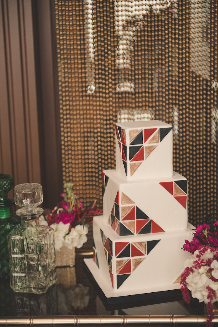 geometric-wedding-cake