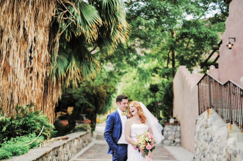 Image for Katie and Brian's Bright and Creative Palm Springs Wedding at Colony 29
