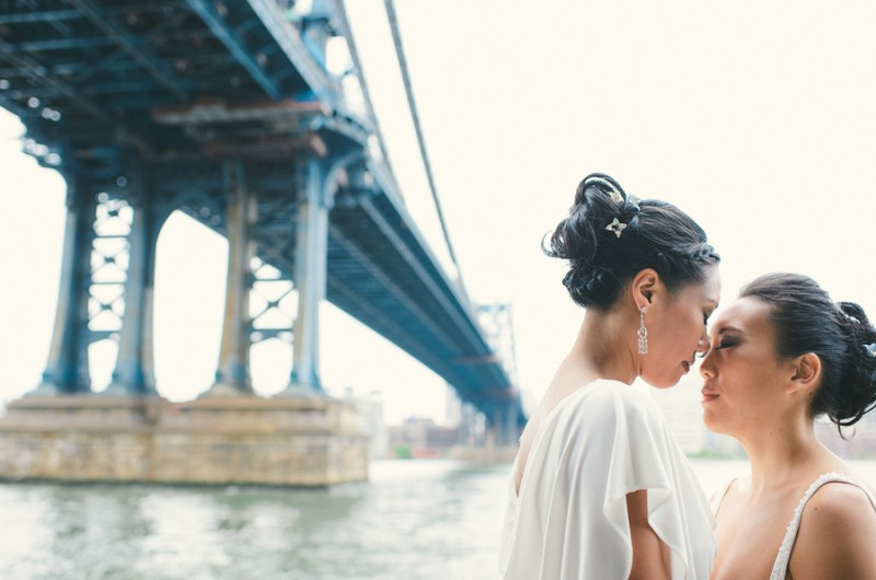 Image for Serena and Melissa's New York City Subway-Inspired Wedding