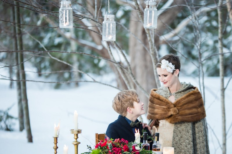 Image for A Romantic Woodsy Winter Wedding Shoot