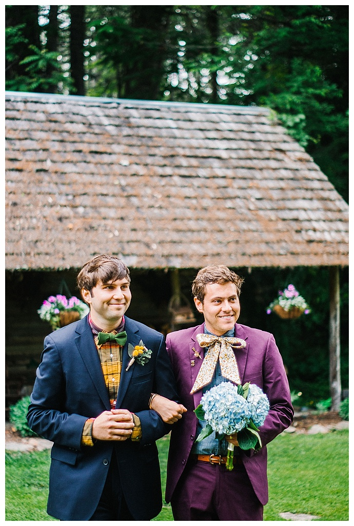 grooms-walking-down-aisle-together-kayla-coleman-photography