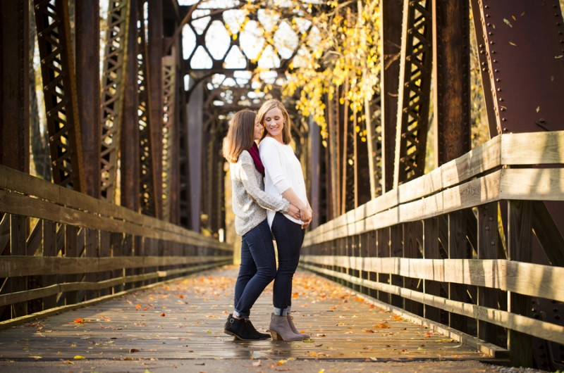 Image for Dana and Alisha's College Campus Engagement Shoot
