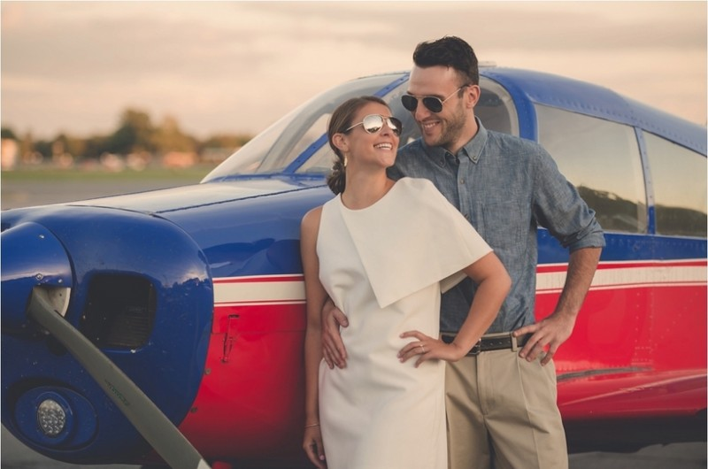 Image for Ashley and Cory's Vintage Airplane Engagement Shoot