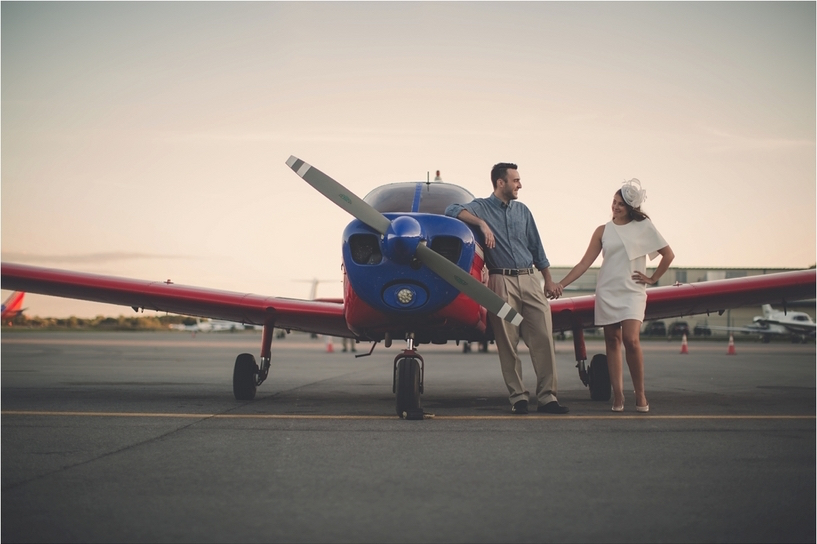 Ashley And Corys Vintage Airplane Engagement Shoot