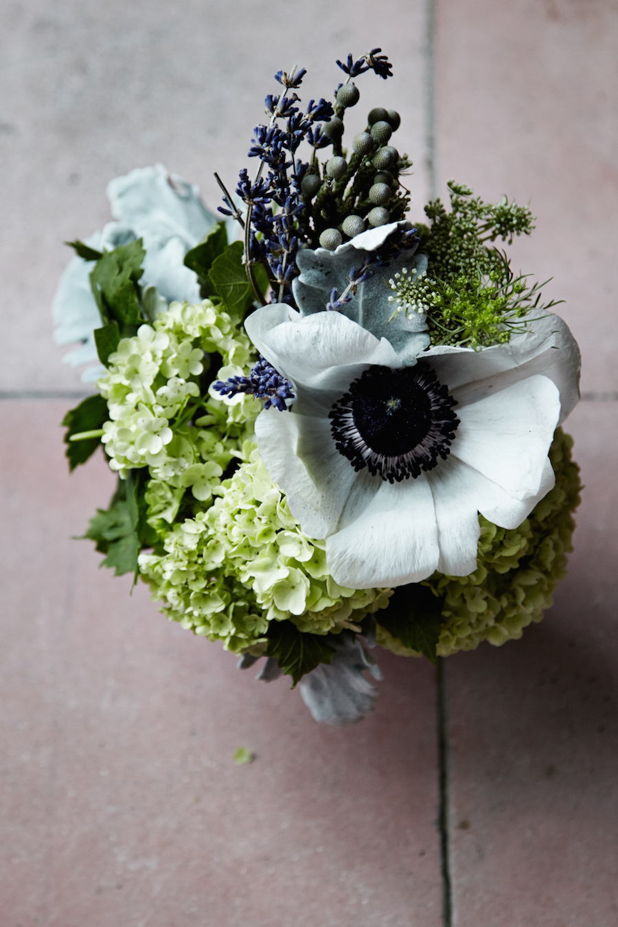 Anemone and Lavender bouquet