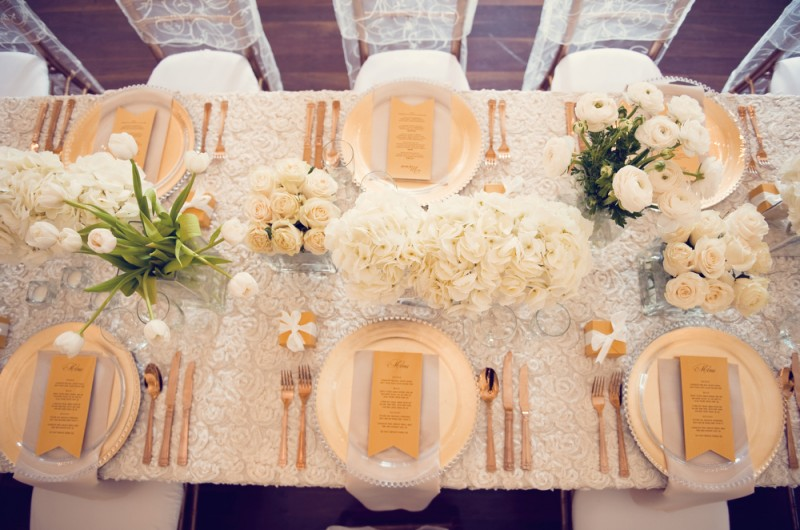 Image for An Elegant Ivory and Gold Inspiration Shoot