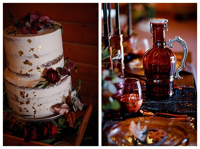 jessica-lefleur-photography-copper-gold-flecked-wedding-cake