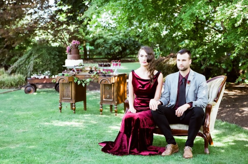 Image for Decadent Jewel-Toned Dessert Wedding Inspiration Shoot