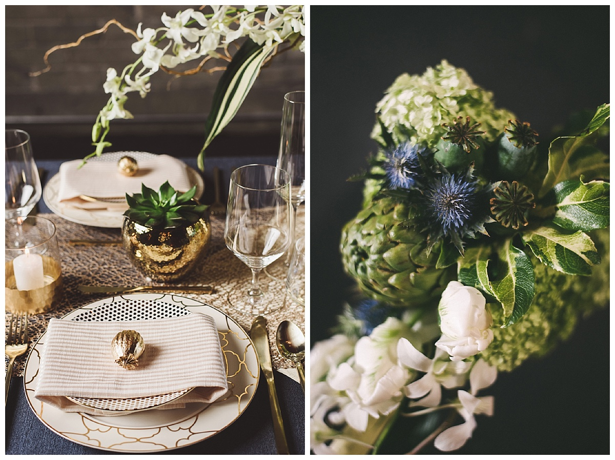 succulent-wedding-tablescape-with-gold