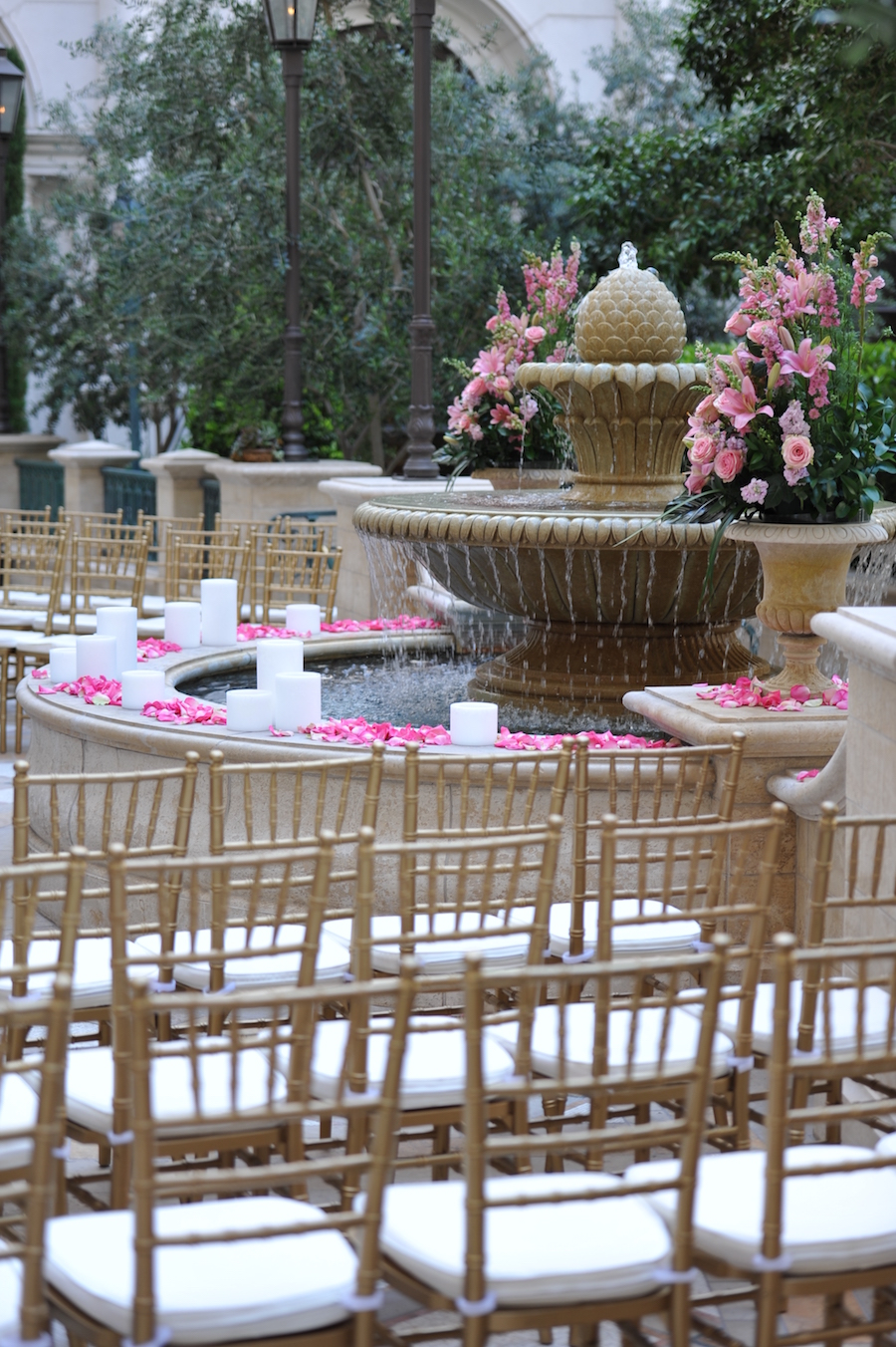 Viva las vegas the hotel thats perfect for proposals bach parties terrace wedding ceremony venetian las vegas junglespirit Gallery