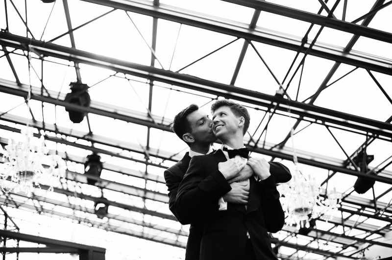 Image for Chris and Andrew's Classy Urban Chic Wedding on a Tribeca Rooftop