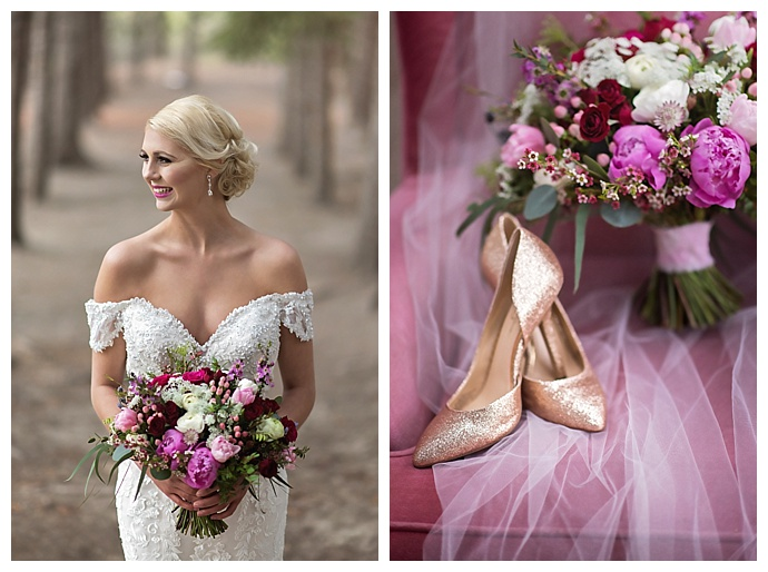 pink-floral-wedding-arrangements-chloe-buie-photography