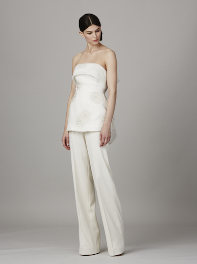 The Province Bridal Jumpsuit by Lela Rose Spring 2017 Collection