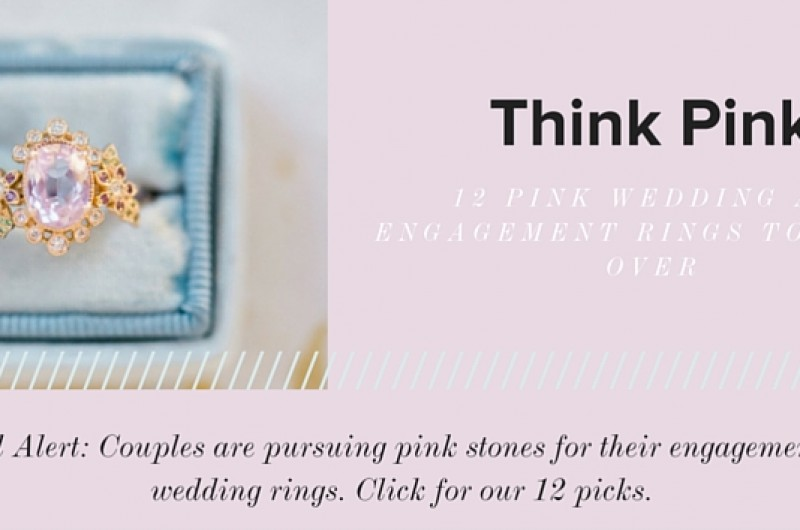 Image for Think Pink: 12 Vibrant Engagement and Wedding Rings with Pink Stones