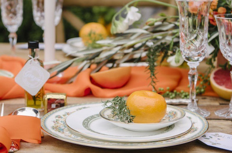 Image for Romantic Citrus Tuscan Wedding Inspiration