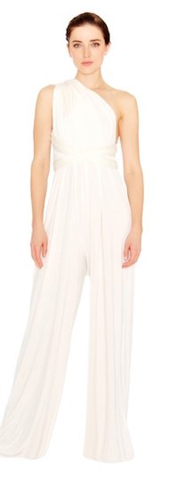 twobirds Bridesmaid Jumpsuit in White