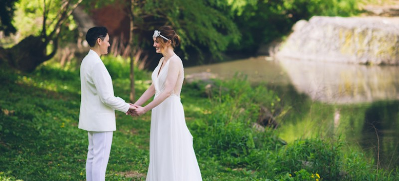 Image for 17 Dapper Brides We're Stealing Style Inspiration From